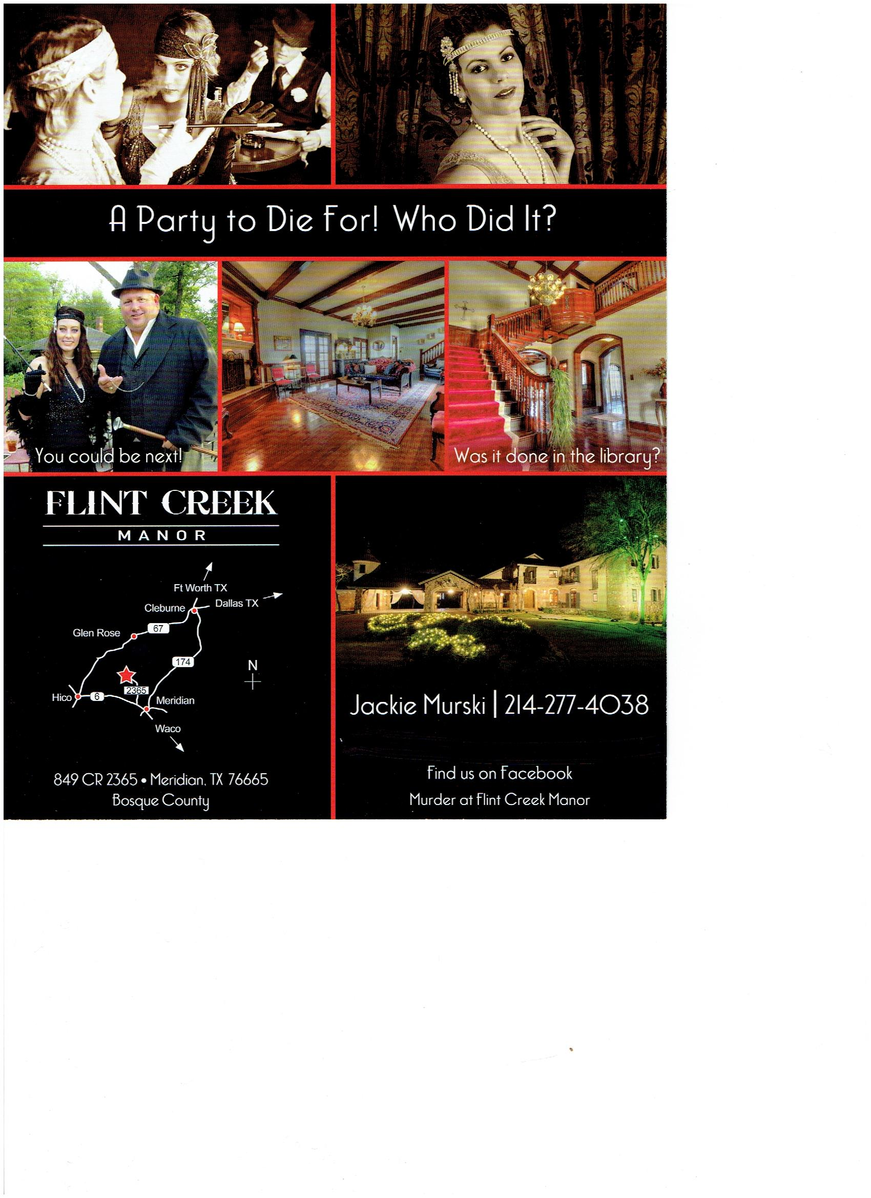 Flint Creek Manor Murder Mystery