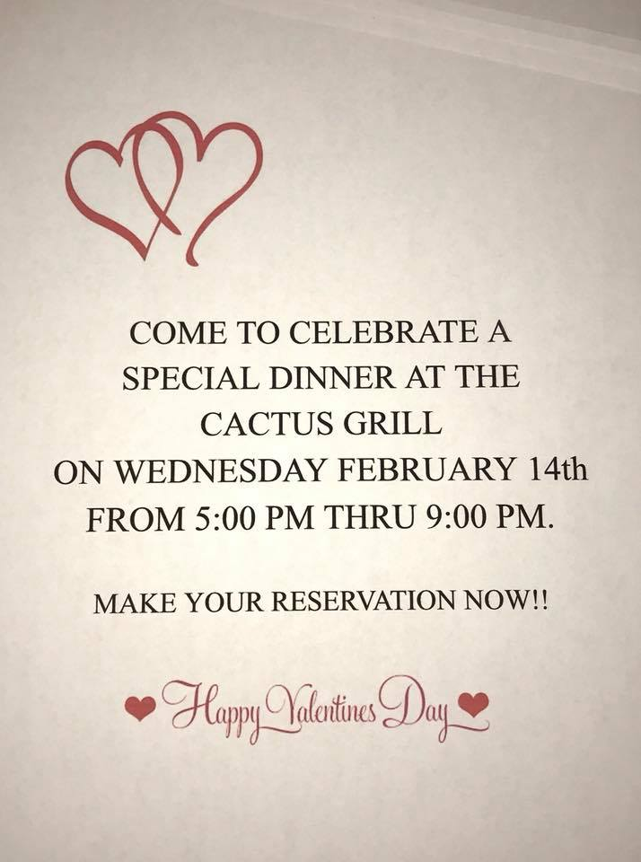 Valentine's Day at Cactus Grill